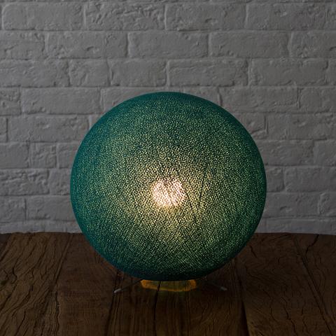 Хлопковый светильник темно-бирюзовый