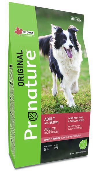 Pronature Корм для взрослых собак всех пород, Pronature Original DOG ADULT ALL BREEDS, с ягненком, горохом и ячменем Pronature_Original_для_собак_ягненок2.jpg