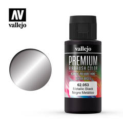 Premium color 60ml. 053-metallic black