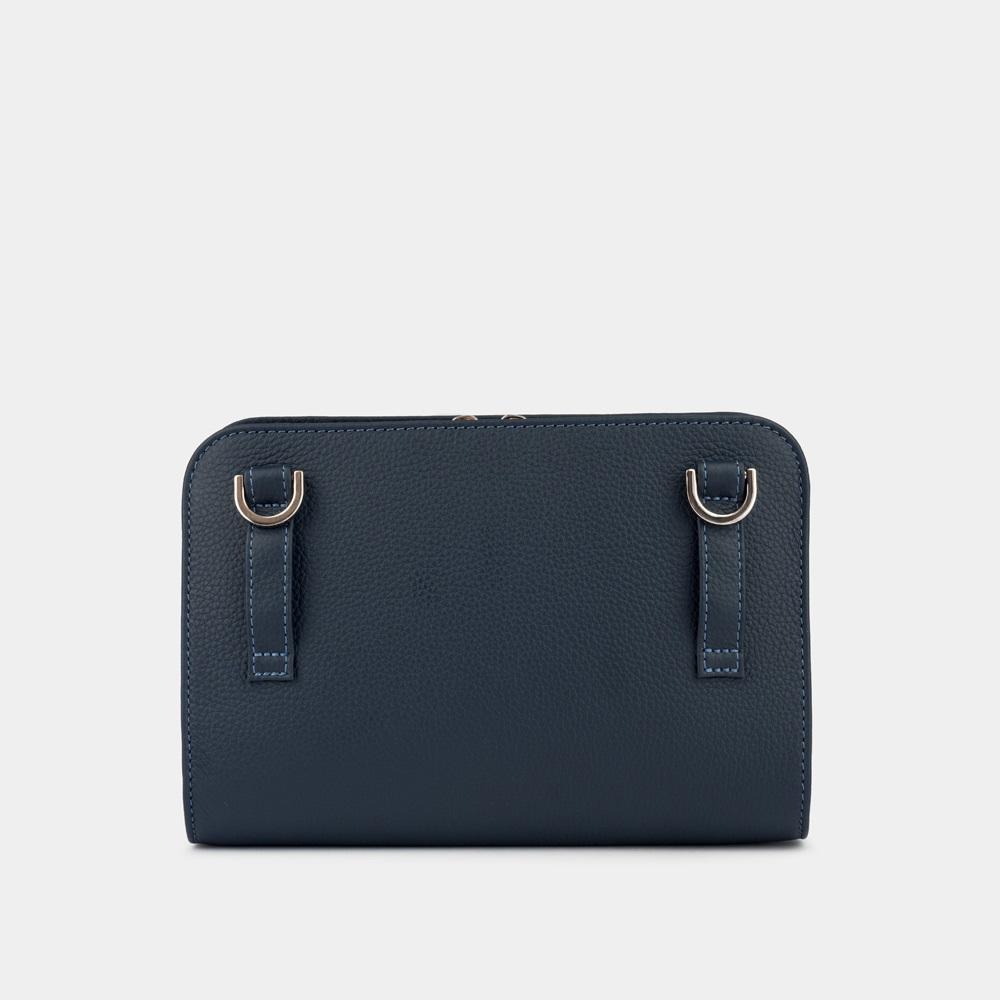 Женская сумка Elodie Easy из натуральной кожи теленка, цвета синий мат