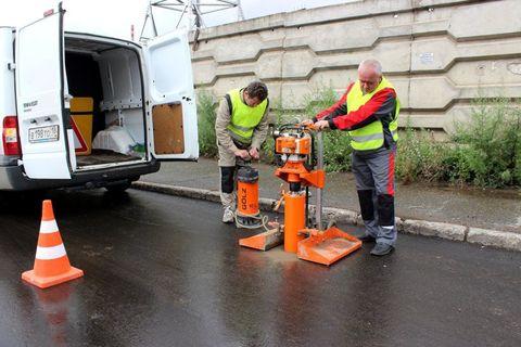 Испытания асфальтобетонных дорожных покрытий