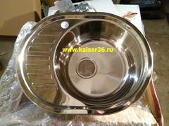 Кухонная мойка врезная из нержавеющей стали Kaiser KSS-5745 R