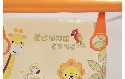 Манеж Polini kids Basic Джунгли, оранжевый
