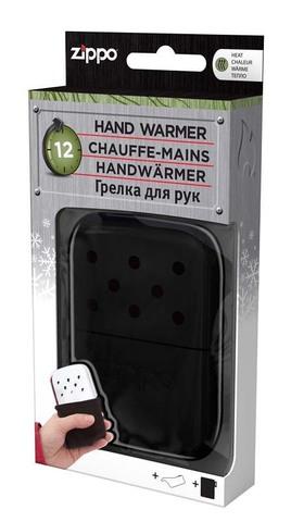 Каталитическая грелка Zippo, сталь с покрытием Black, чёрная, матовая, 66x13x99 мм123
