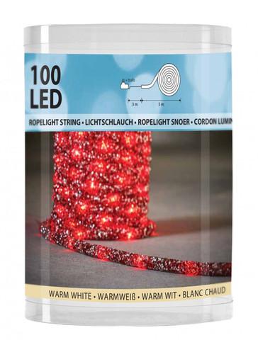 Дюралайт Luca Lighting красный свет (100 ламп, длина 500 см)