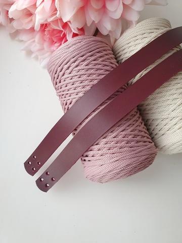 Ручки для сумок пришивные (2 шт)  60 см цвет Вишня