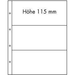 Лист для банкнот FOLIO, 3 ячейки, прозрачный