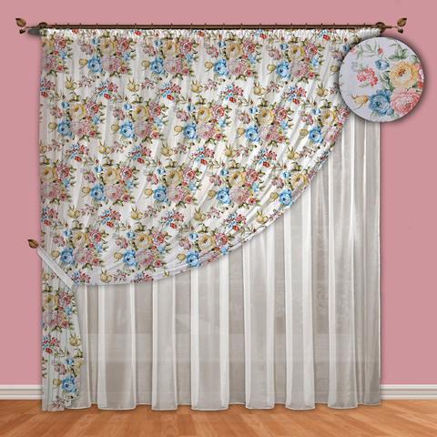 Комплект штор вуаль Надежда голубой