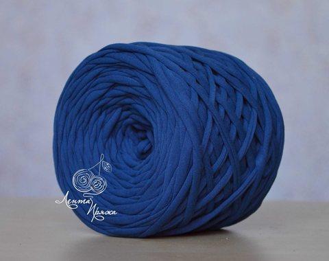 Пряжа Лента Темно-синий
