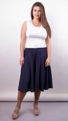Лоліта. Оригінальні шорти-спідниця великих розмірів. Синій+горох.