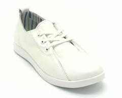 Кеды белые на шнуровке