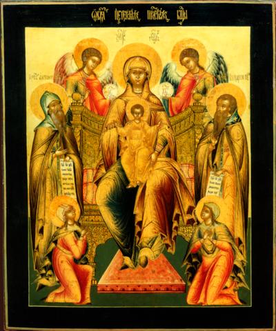 Икона Богородицы Свенская-Печерская на дереве на левкасе мастерская Иконный Дом