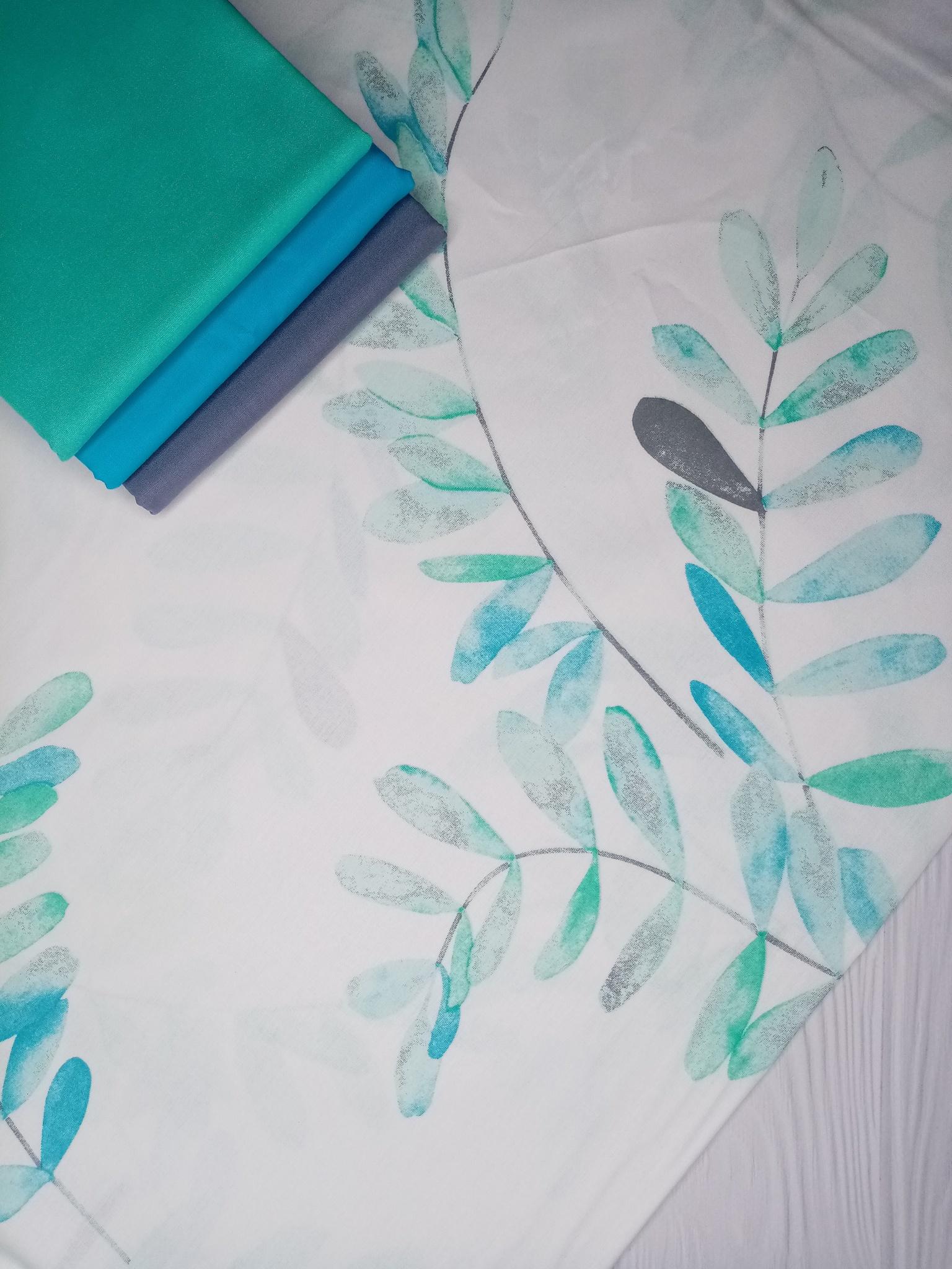 Премиум ранфорс Ботаника мята