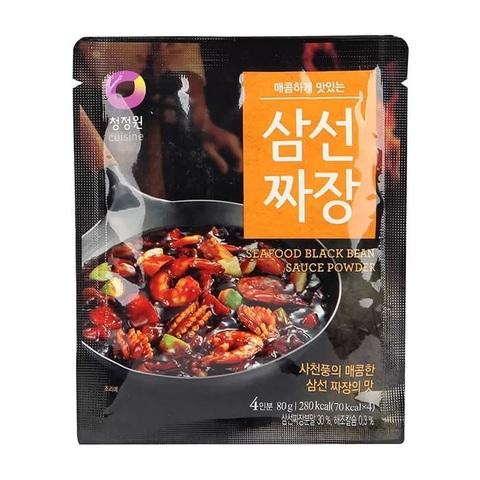 Основа для соуса Daesang Seafood Black Bean Sauce Powder для приготовления соуса из чёрных соевых бобов со вкусом морепродуктов 80 мл
