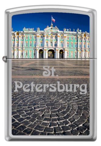 Зажигалка ZIPPO Classic High Polish Chrome™ с Изображением Зимнего дворца ZP-250 WINTER PALACE