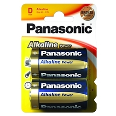 Батарейки Panasonic Alkaline Power LR20, D (2/24) BL