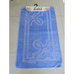 Коврик для ванны Zalel 55х90 см ворс, голубой