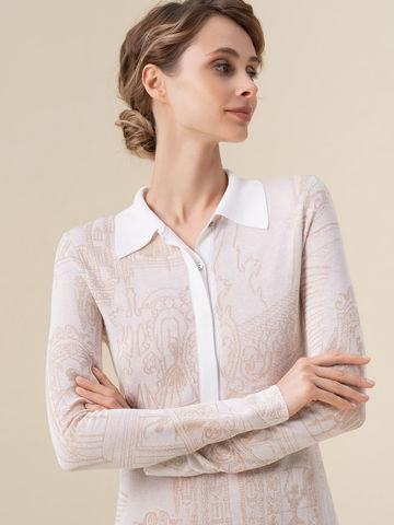 Женское платье молочного цвета из вискозы - фото 4