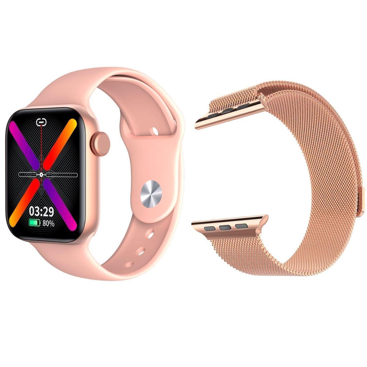 Смарт часы и браслеты Смарт часы KingWear LW12 (розовые) с Миланским браслетом LW12_Milanese_Loop.jpg