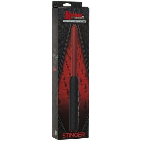 Черно-красный жезл для электростимуляции The Stinger Electro-Play Wand - 38,1 см.
