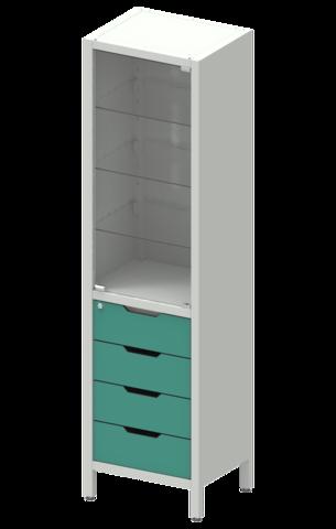 Шкаф лабораторный ШКа-1 АйЛаб Organizer (вариант 8) - фото