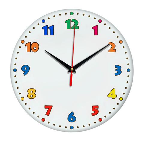 Детские яркие часы в мультяшном стиле круг