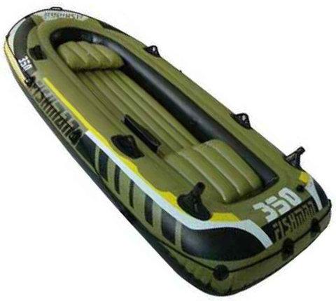 Лодка надувная Fishman 350 SET (весла+насос) JL007209-1N