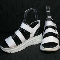 Спортивные сандали на платформе женские Evromoda 3078-107 Sport White