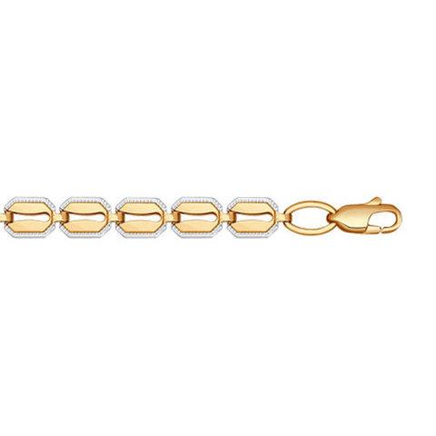 050793 - Браслет из золота 585 пробы с фианитами