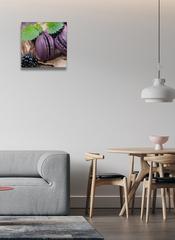 Картина на стекле/ Картина на стену Ягода и макаруны , 28х28см