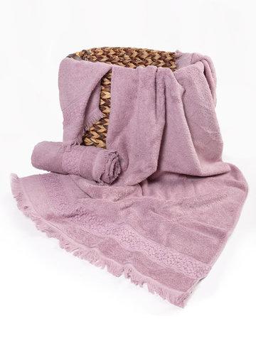 Набор полотенец  SUZANNE - СЮЗАННА фиолетовый 3предмета Maison Dor (Турция)