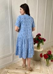 Стеша. Сукня з воланами великих розмірів. Блакитний