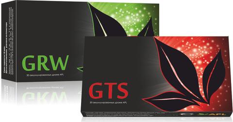 APL. Набор Аккумулированные драже APLGO GTS+GRW для повышения энергетики, сохранения молодости