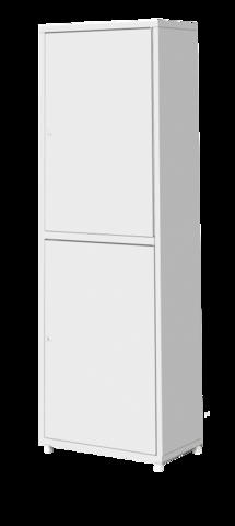Шкаф металлический двухсекционный однодверный МСК - 646.01 - фото