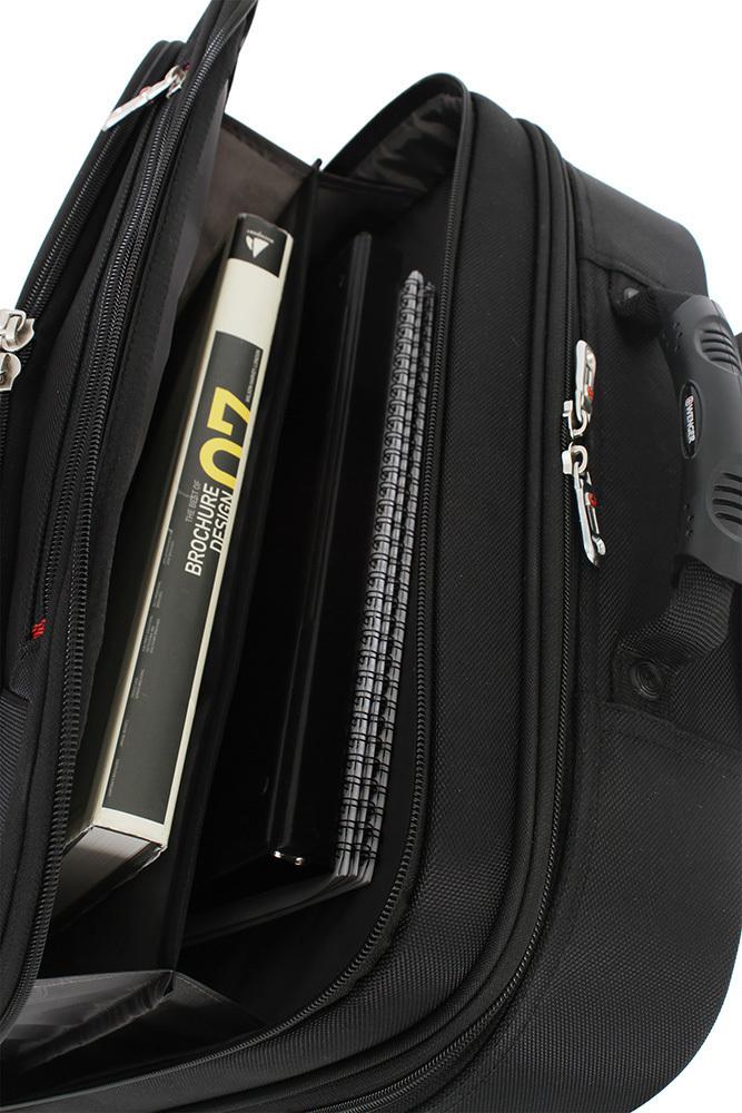 Сумка WENGER на колёсах, 33 л., 43x38x21 см., цвет черный (87732253) 3 отделения, отделение для ноутбука 15