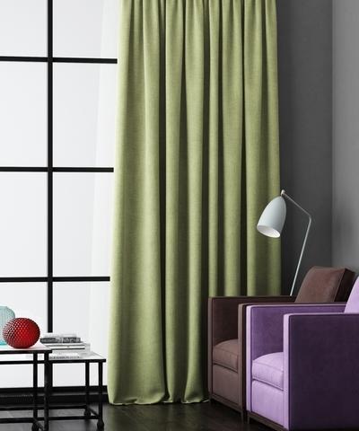 Готовая штора Калипсо зеленый