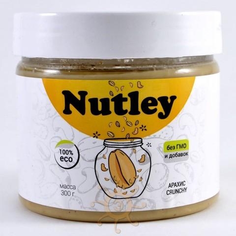 """Паста арахисовая """"Crunchy"""" (хрустящая) Nutley, 300г"""