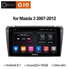 Штатная магнитола на Android 8.1 для Mazda 3 07-12 Ownice G10 S9503E