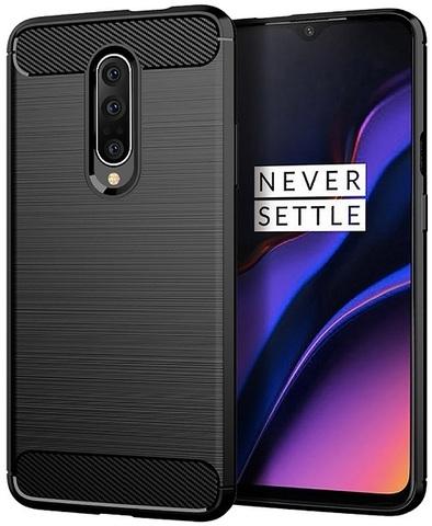Чехол для OnePlus 7 Pro цвет Black (черный), серия Carbon от Caseport