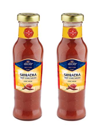 Соус Чили SRIRACHA ШРИРАЧА Sen Soy Premium в стеклянной бутылке 2 шт по 320 гр 1кор*1бл*2шт