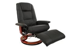Кресло вибромассажное Calviano с подъемным пуфом и подогревом 2161