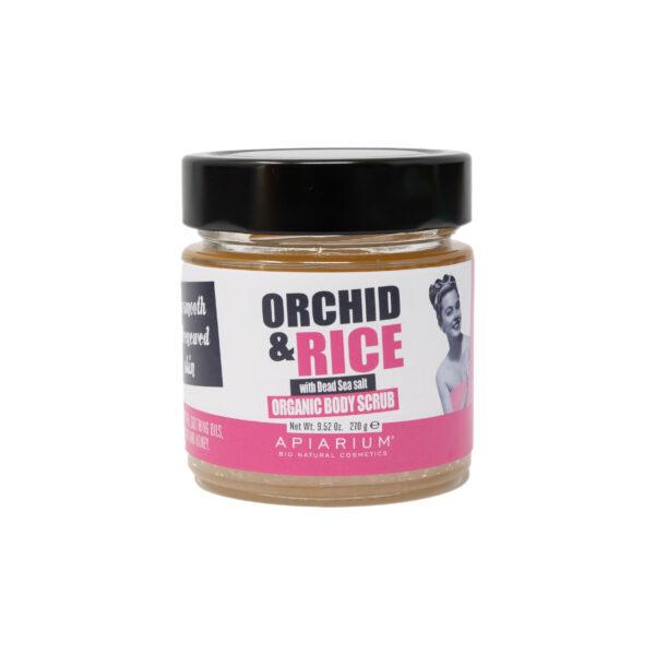 Скраб для тела Apiarium Orchid & Rice Organic Body Scrub Орхидея и Рис 270 гр.