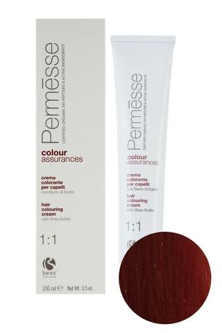 Крем-краска для волос 6.60 Темный блондин красный интенсивный Permesse, Barex