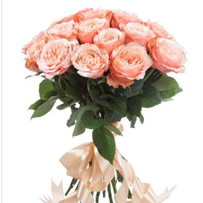Букет пионовидных роз Кахала. 19шт