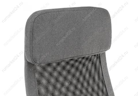 Офисное кресло для персонала и руководителя Компьютерное Sigma темно-серое 60*60*115 Хромированный металл /Серый