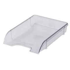 Лоток для бумаг горизонтальный Attache Триколор прозрачный