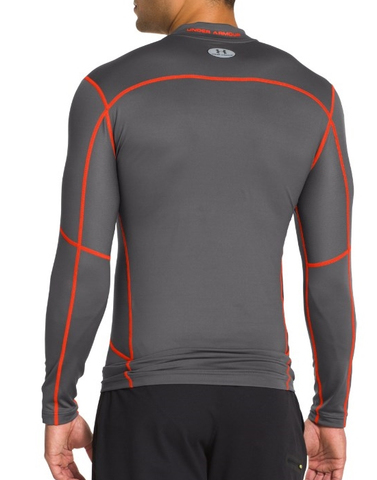 Термофутболка Under Armour ColdGear EVO Compression Hybrid Mock, Grey, новая