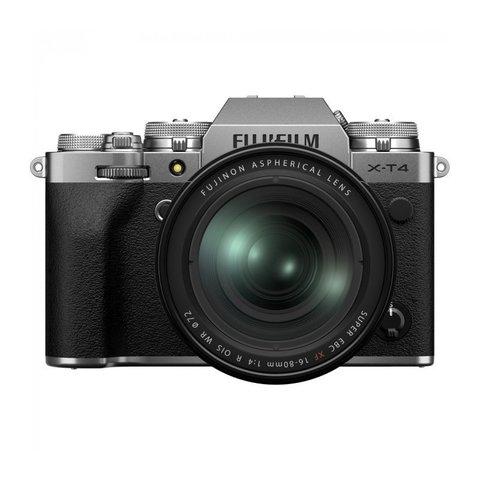 Fujifilm X-T4 Kit XF 16-80mm F4 R OIS WR Silver
