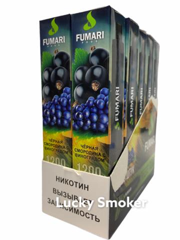 FUMARI (1200 затяжек) Черная смородина с Виноградом