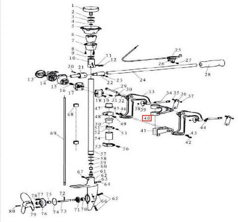 Кронштейн поворотный алюминиевый для лодочного мотора T3,5 Sea-PRO